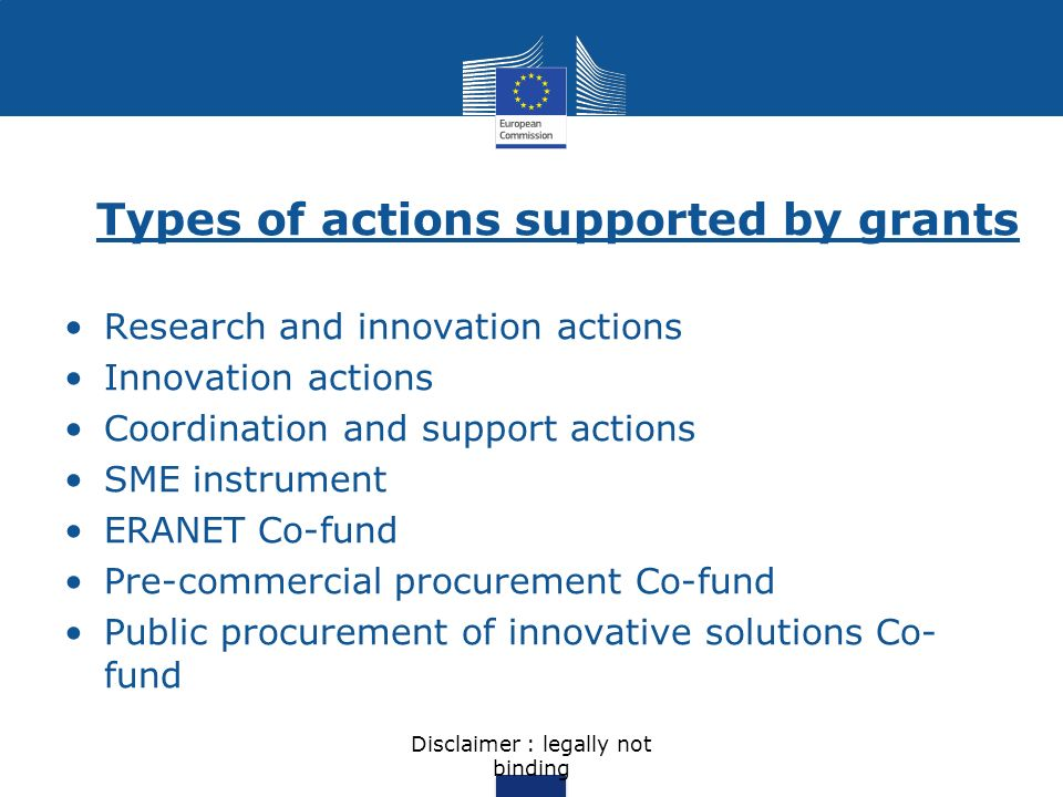 Research and innovation actions Actions primarily consisting of activities aiming to establish new knowledge and/or to explore the feasibility of a new or improved technology, product, process, service or solution.