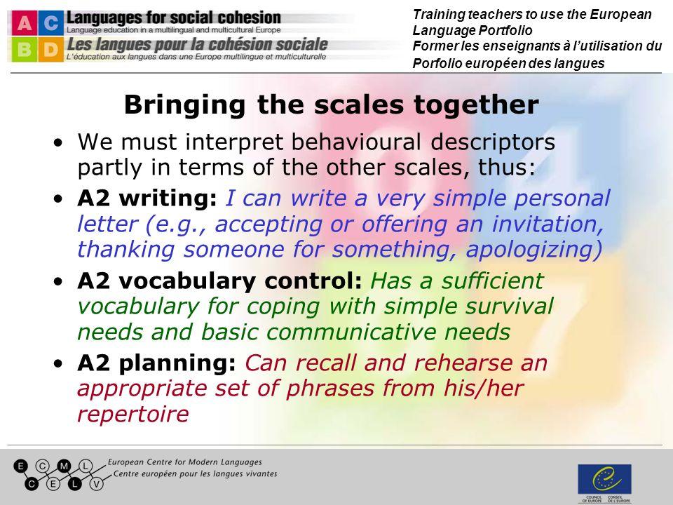 Training teachers to use the European Language Portfolio Former les enseignants à lutilisation du Porfolio européen des langues Age-appropriate issues