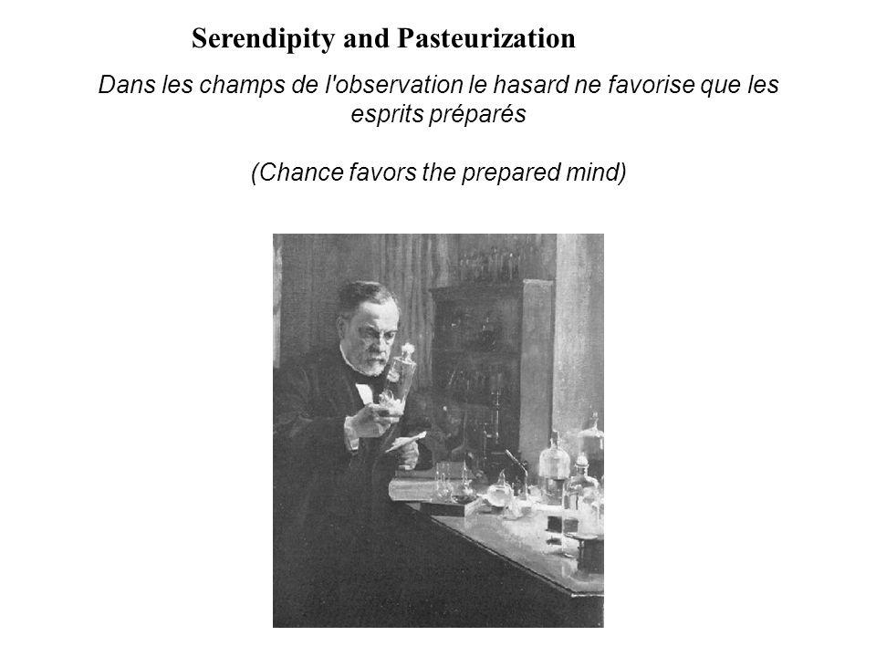 Dans les champs de l'observation le hasard ne favorise que les esprits préparés (Chance favors the prepared mind) Serendipity and Pasteurization