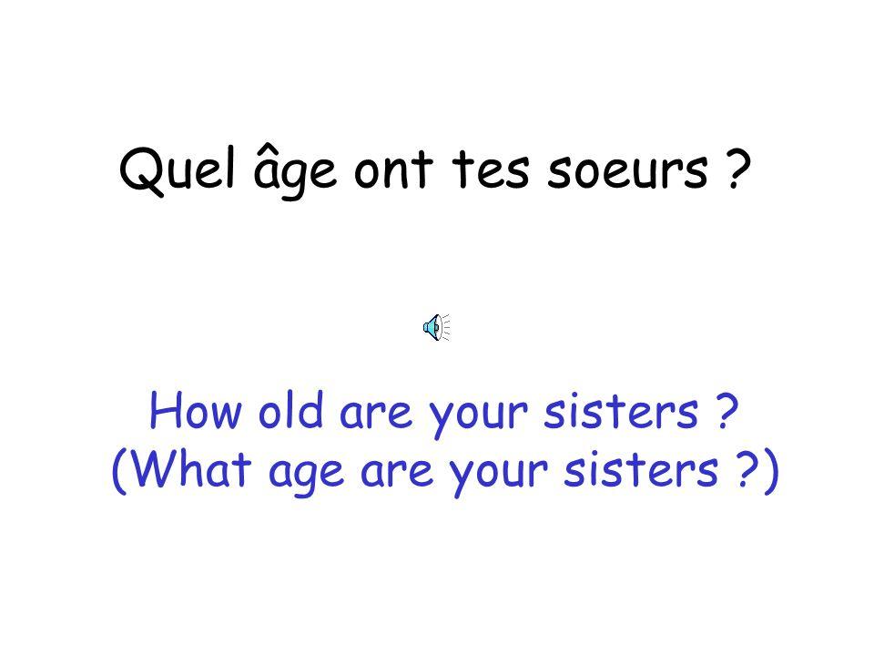 Comment sont tes parents ? What are your parents like ? (What like are your parents ?)