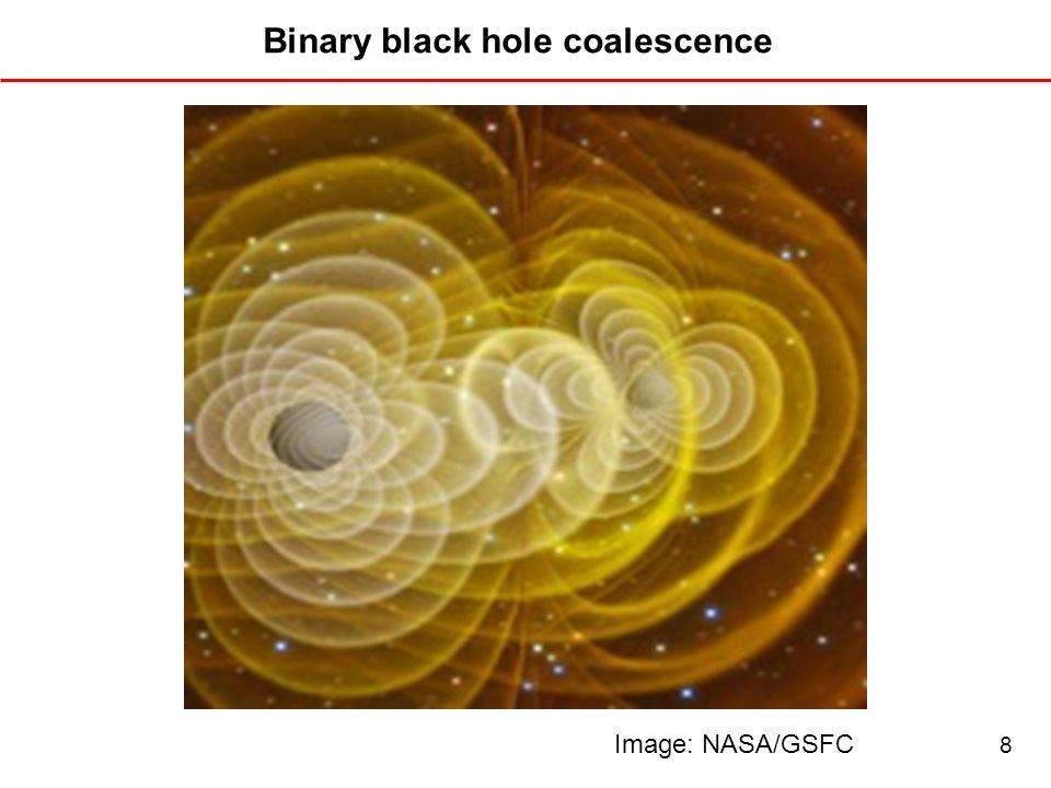 Binary black hole coalescence Image: NASA/GSFC 8