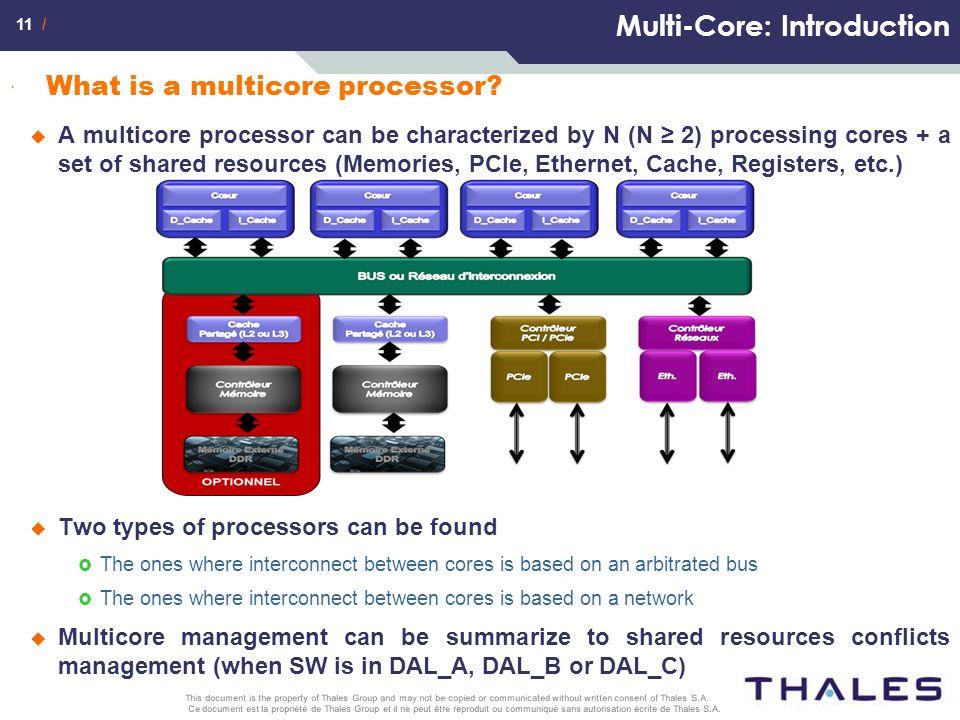 11 / Ce document est la propriété de Thales Group et il ne peut être reproduit ou communiqué sans autorisation écrite de Thales S.A. This document is