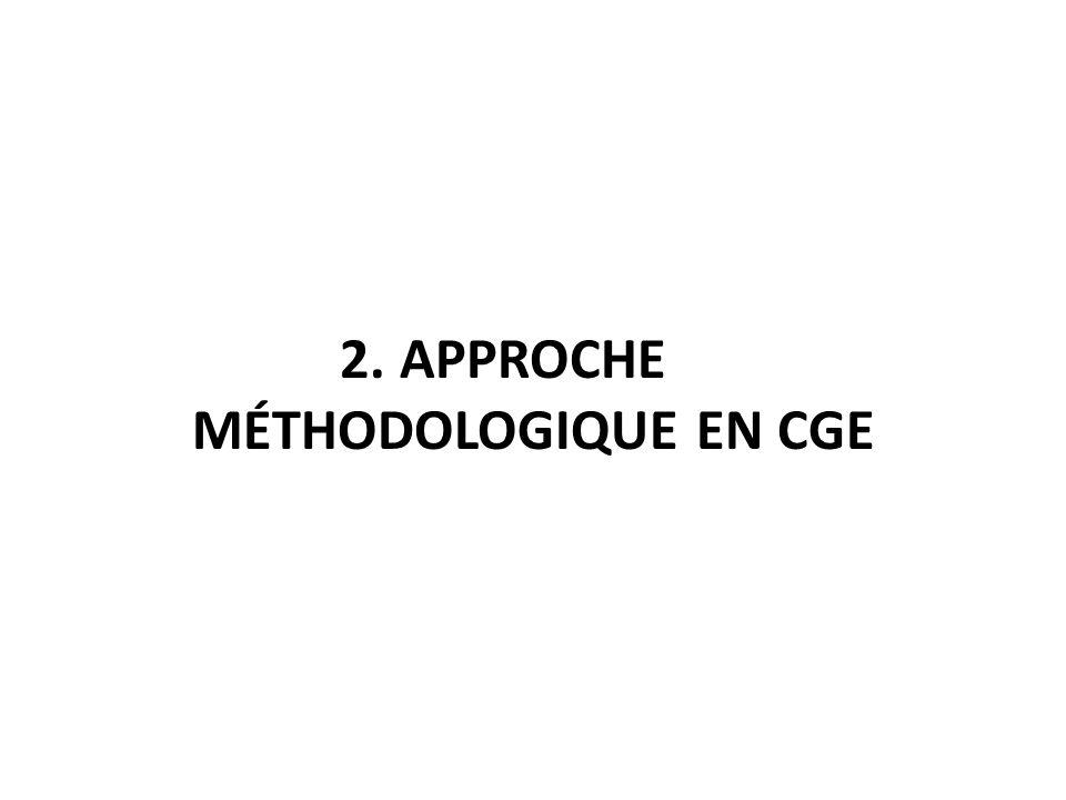 2. APPROCHE MÉTHODOLOGIQUE EN CGE