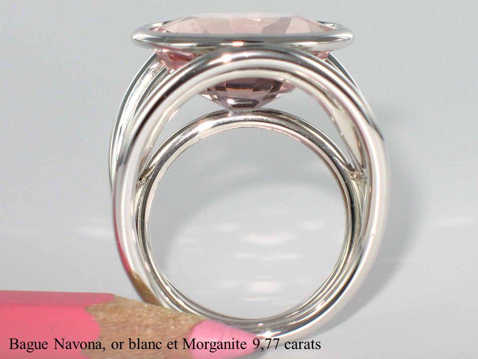Bague Navona, or blanc et Morganite 9,77 carats