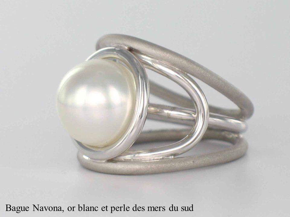 Bague Navona, or blanc et perle des mers du sud