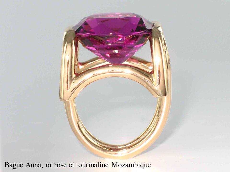 Bague Anna, or rose et tourmaline Mozambique