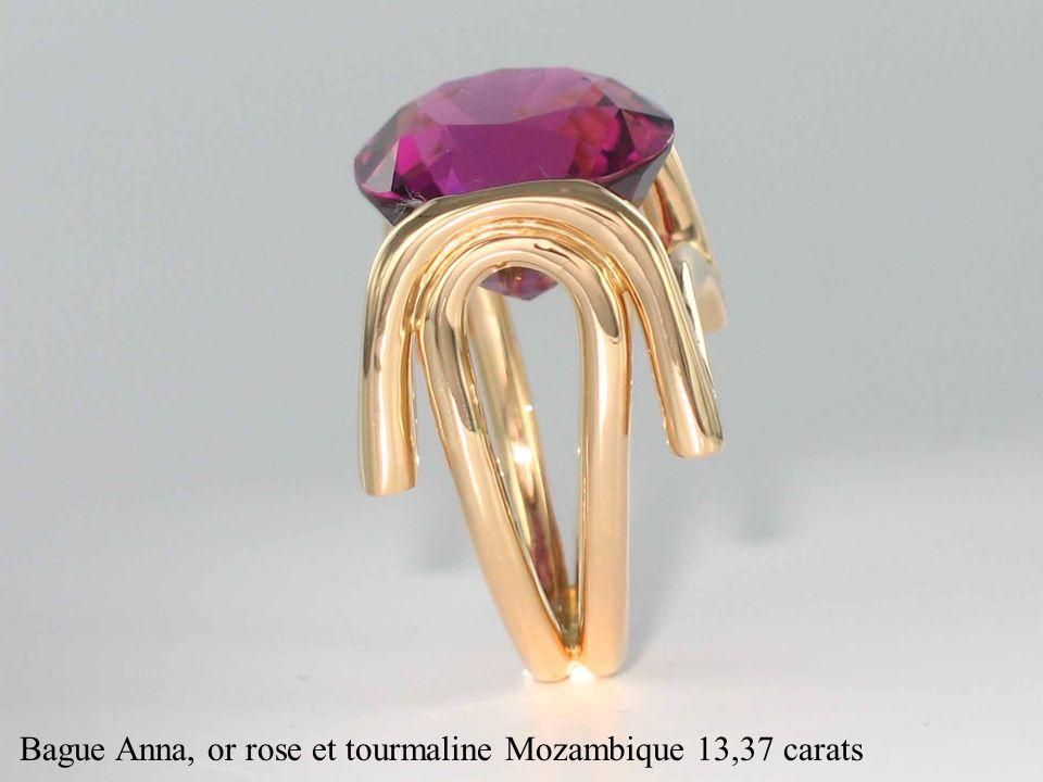 Bague Anna, or rose et tourmaline Mozambique 13,37 carats