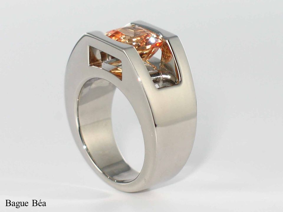 Bague Béa, or blanc