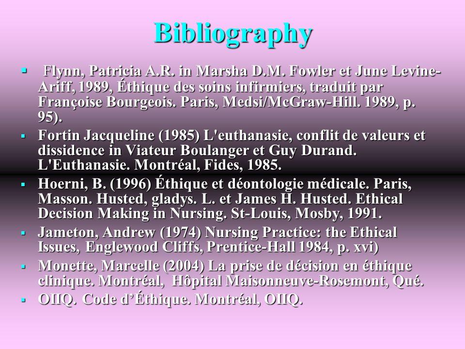 Bibliography Flynn, Patricia A.R. in Marsha D.M.