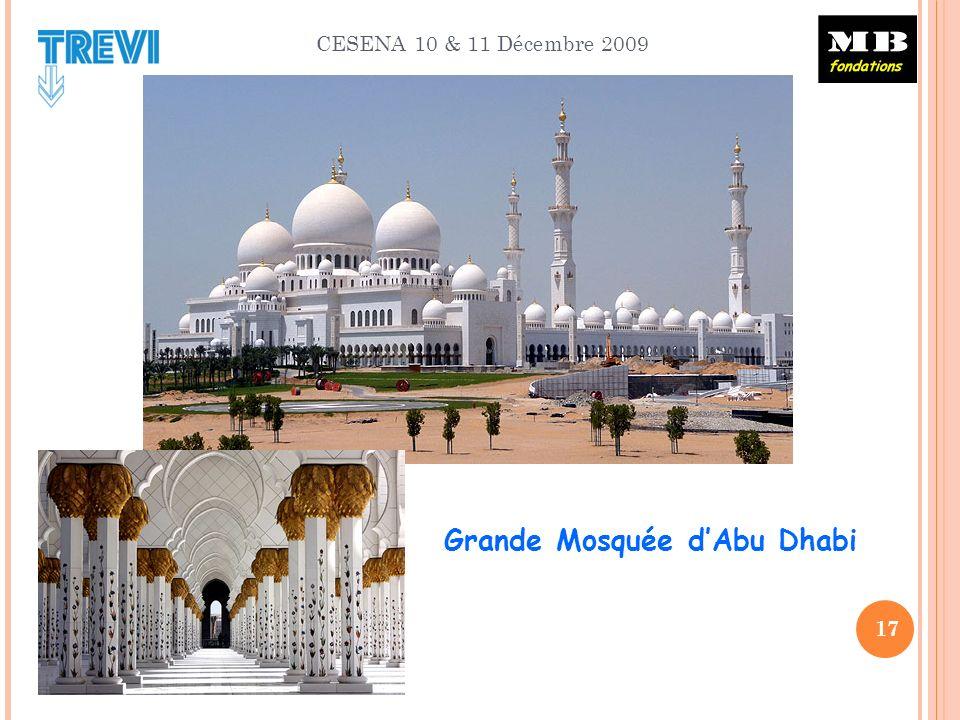 CESENA 10 & 11 Décembre 2009 17 Grande Mosquée dAbu Dhabi