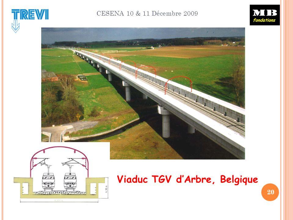 CESENA 10 & 11 Décembre 2009 20 Viaduc TGV dArbre, Belgique