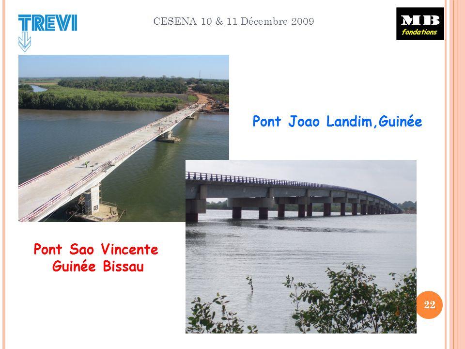 CESENA 10 & 11 Décembre 2009 22 Pont Joao Landim,Guinée Pont Sao Vincente Guinée Bissau