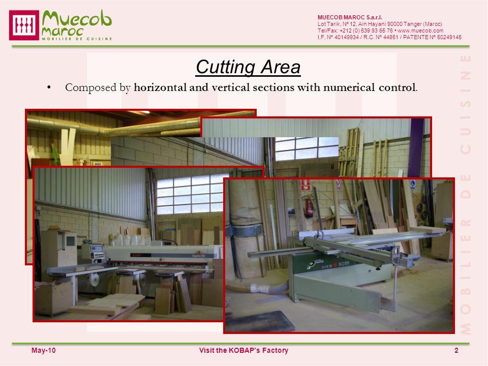 Cutting Area 2 MUECOB MAROC S.a.r.l.