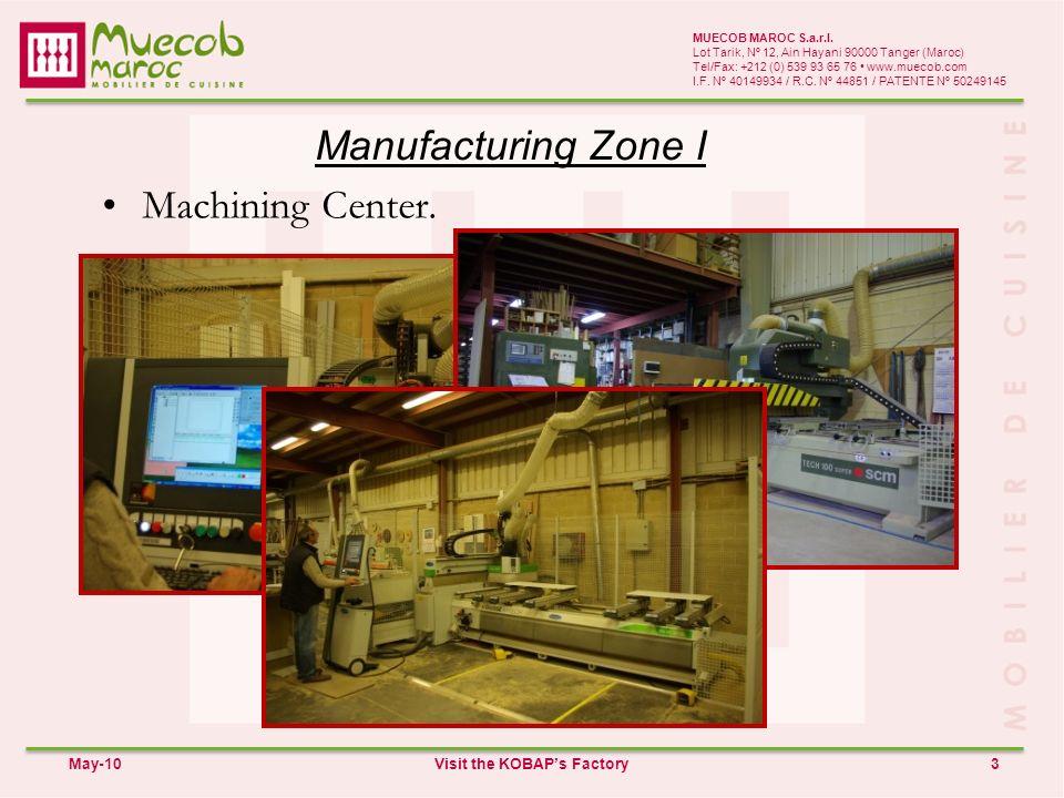 Manufacturing Zone I 3 MUECOB MAROC S.a.r.l.