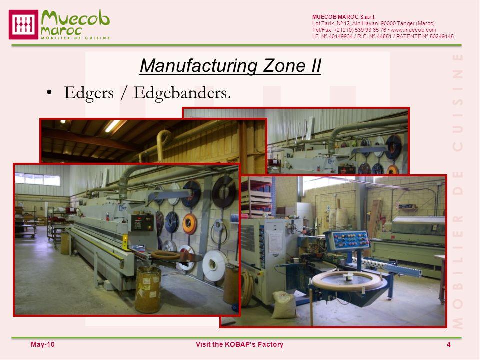 Manufacturing Zone II 4 MUECOB MAROC S.a.r.l.