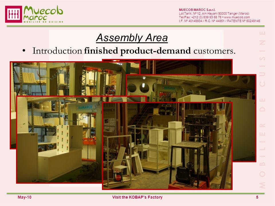 Assembly Area 5 MUECOB MAROC S.a.r.l.