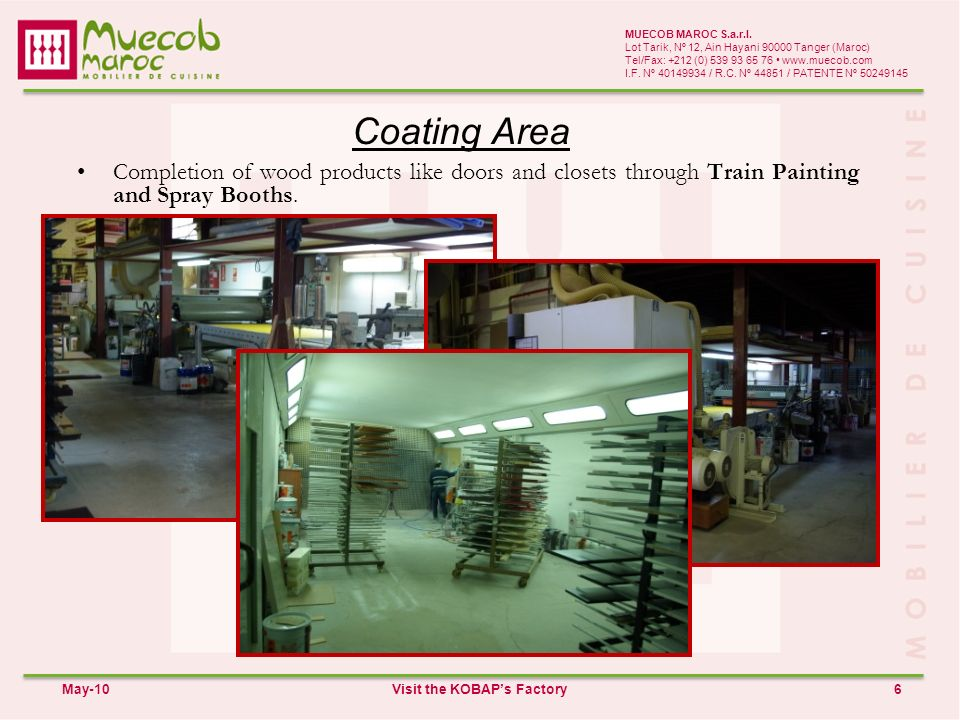 Packaging Area 7 MUECOB MAROC S.a.r.l.