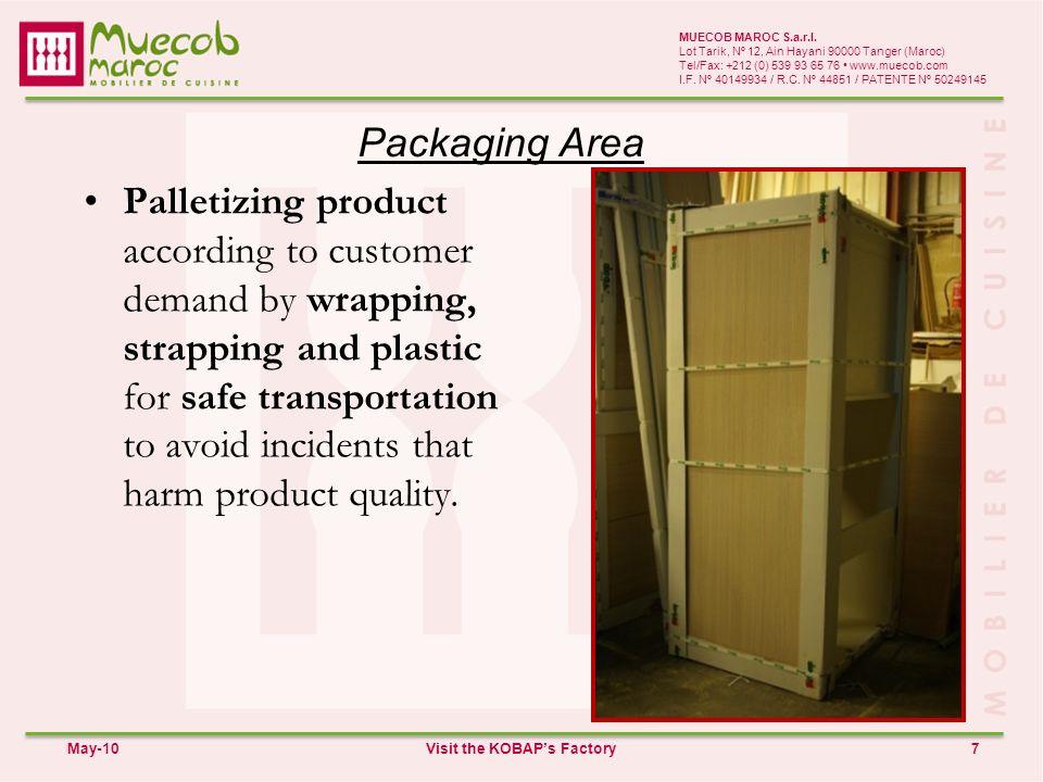 Packaging Area 7 MUECOB MAROC S.a.r.l.