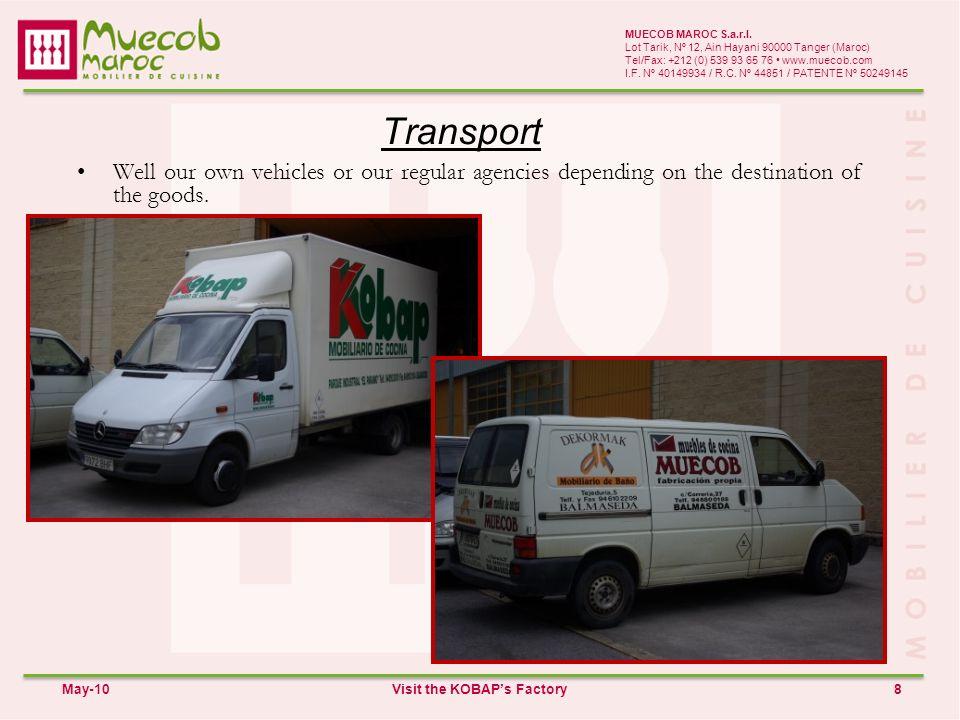 Transport 8 MUECOB MAROC S.a.r.l.