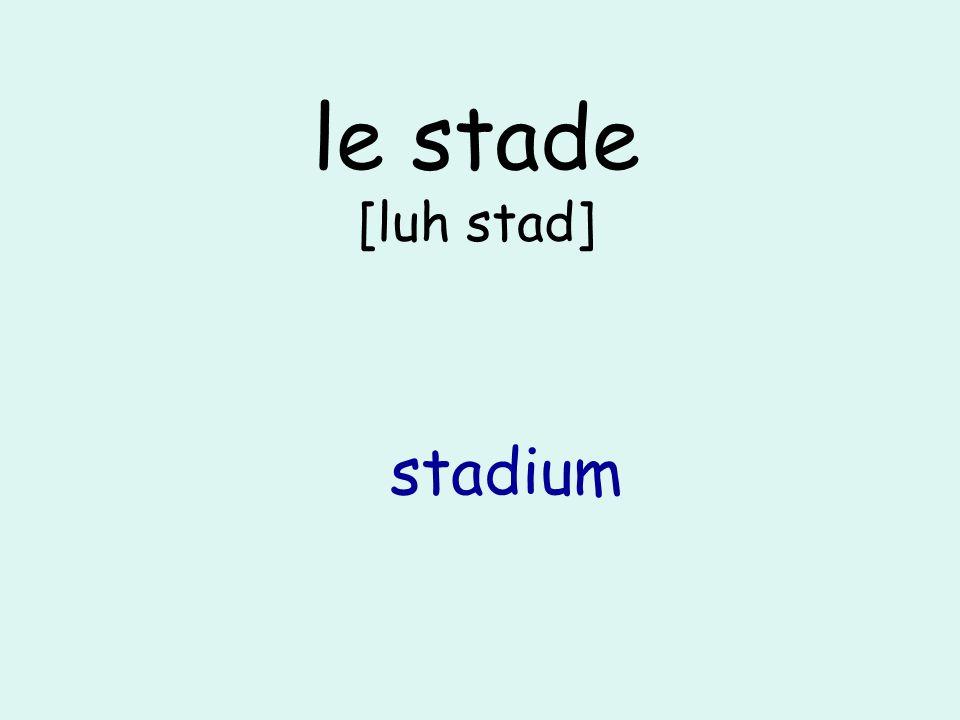 le stade [luh stad] stadium