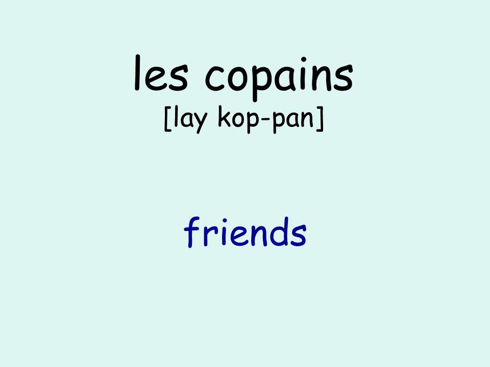 les copains [lay kop-pan] friends