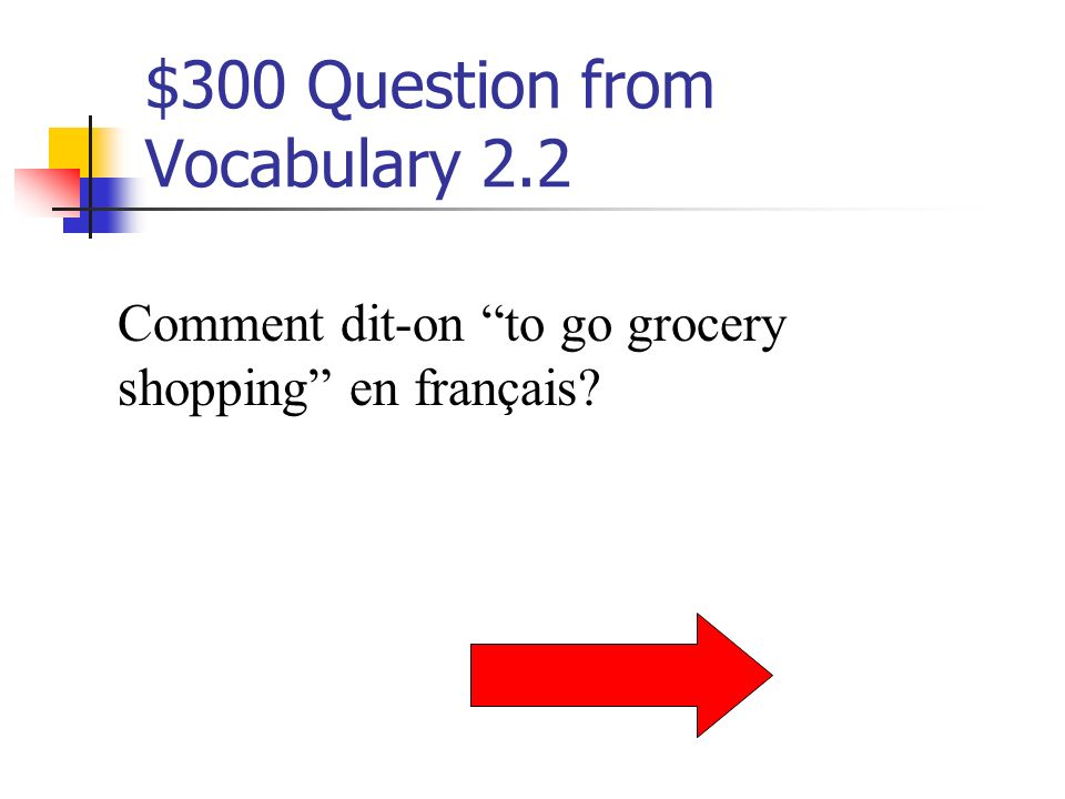 $200 Answer from Vocabulary 2.2 b. pas de problème