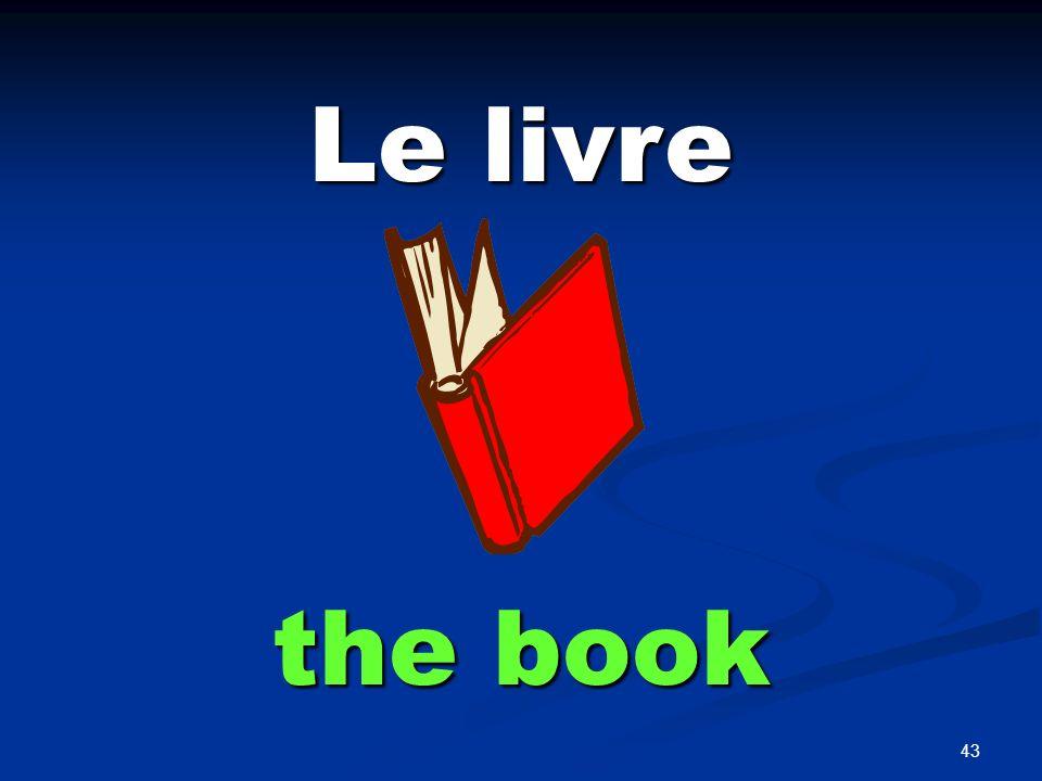 43 Le livre the book