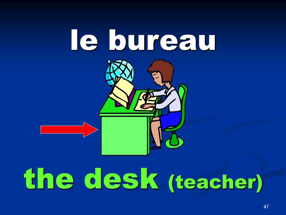 47 le bureau the desk (teacher)