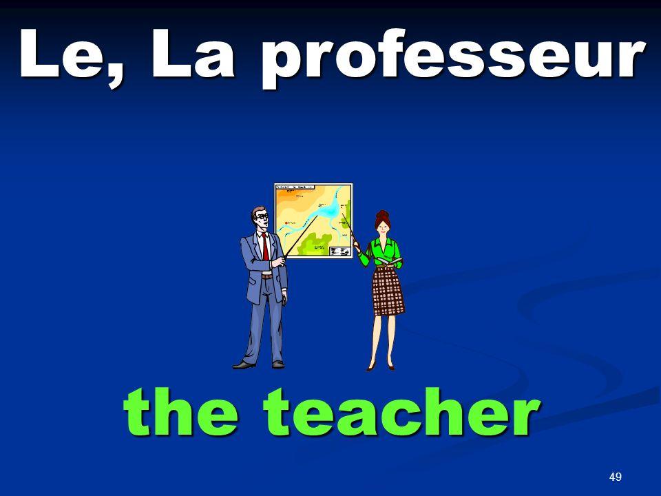49 Le, La professeur the teacher