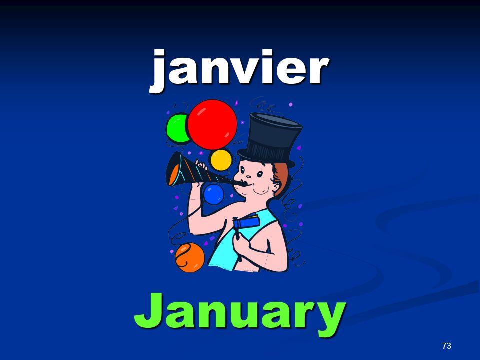 73 janvier January