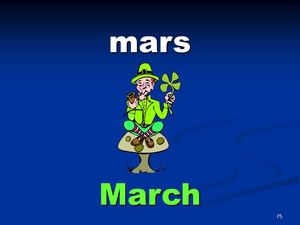 75 mars March