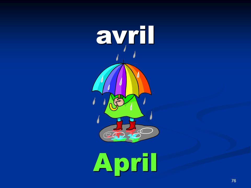 76 avril April