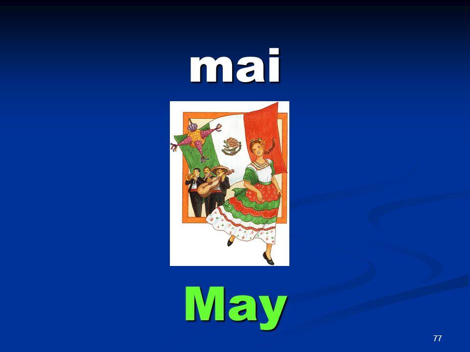 77 mai May