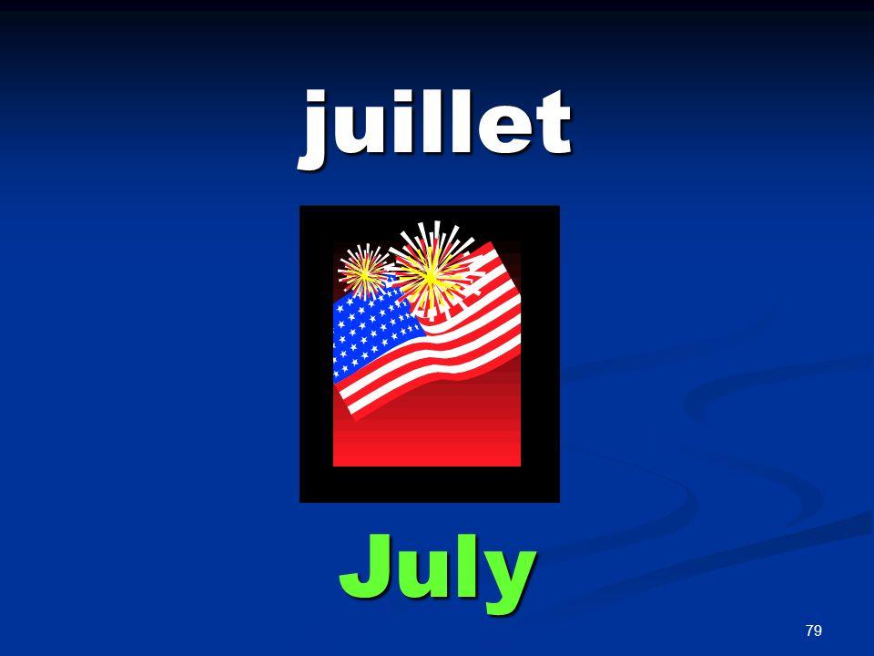 79 juillet July