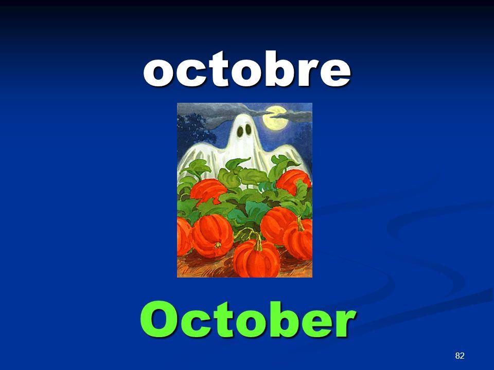 82 octobre October