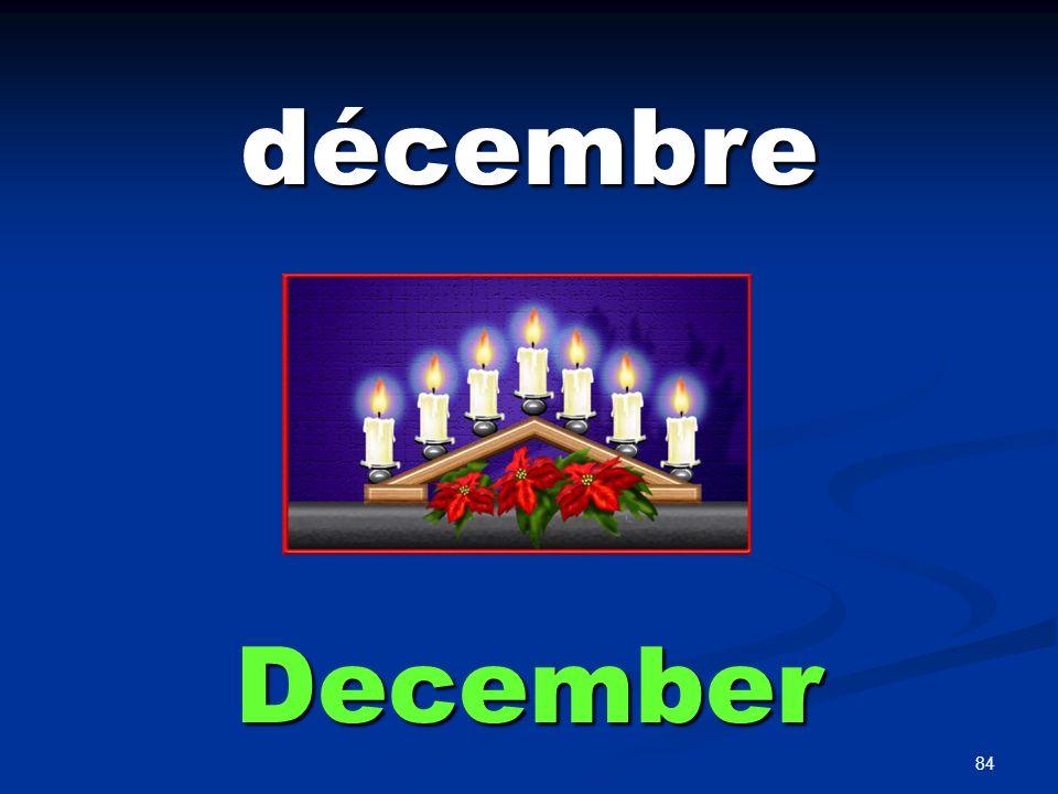 84 décembre December