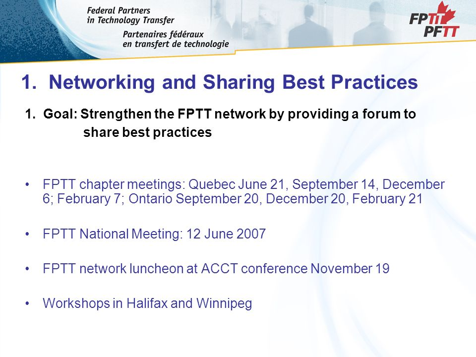 1. Networking and Sharing Best Practices 1.