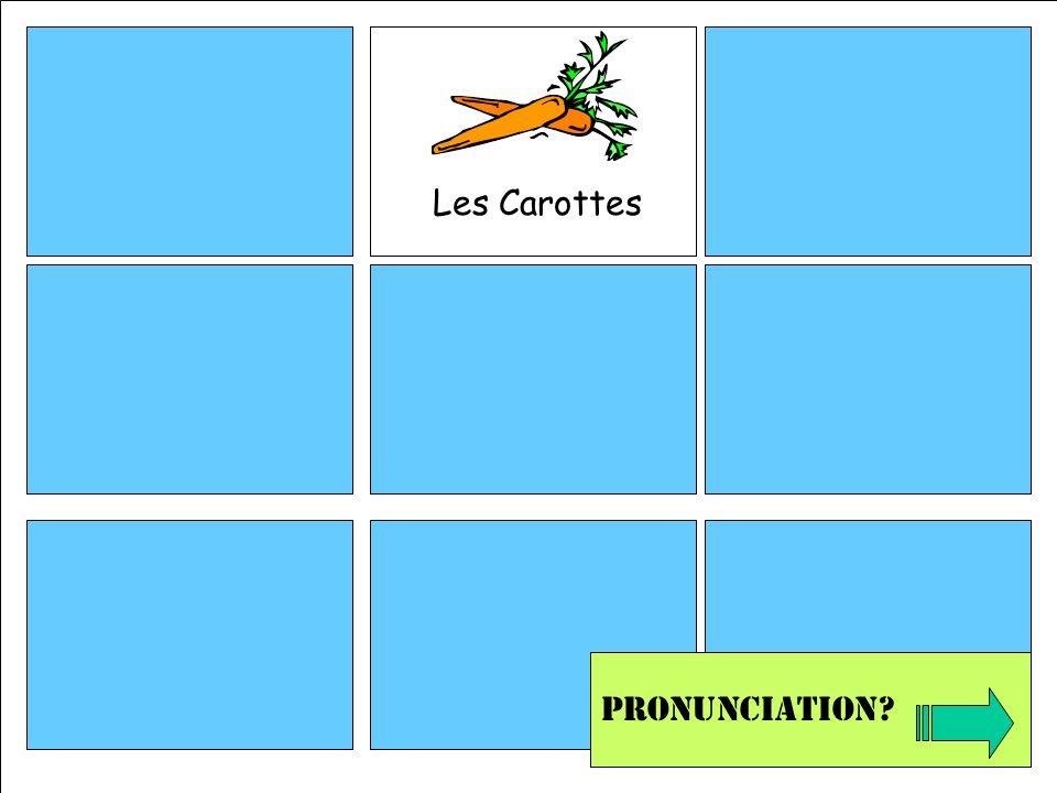 Les Carottes Pronunciation