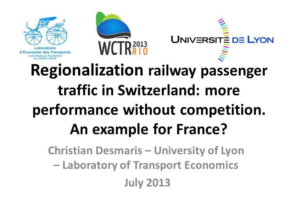 3.The keys of the Swiss rail reform success 12 Key 1.