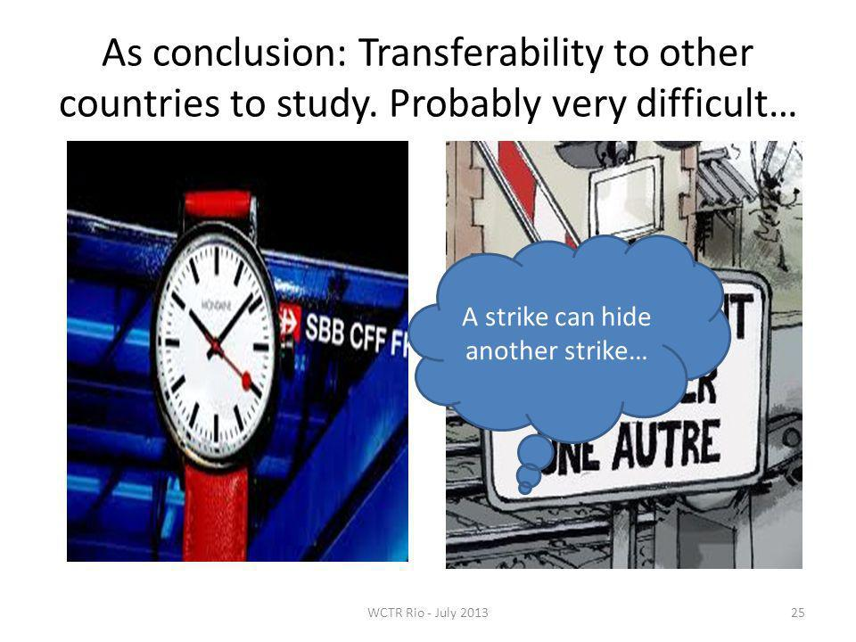 As conclusion: Transferability to other countries to study.