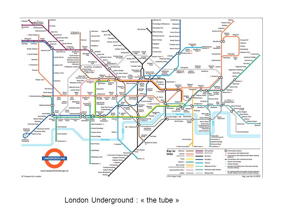 London Underground : « the tube »