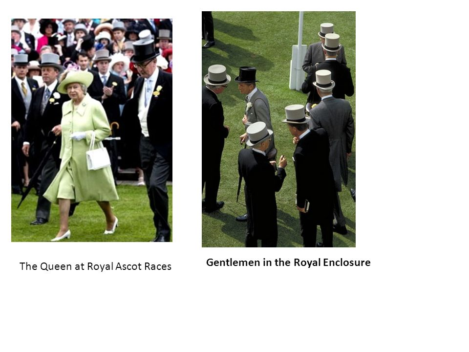 The Queen at Royal Ascot Races Gentlemen in the Royal Enclosure