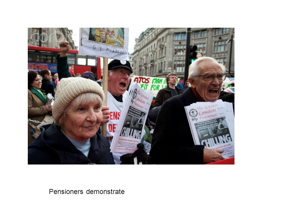 Pensioners demonstrate