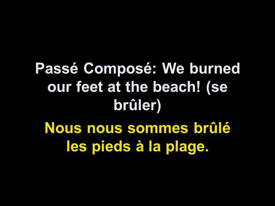 Passé Composé: We burned our feet at the beach.