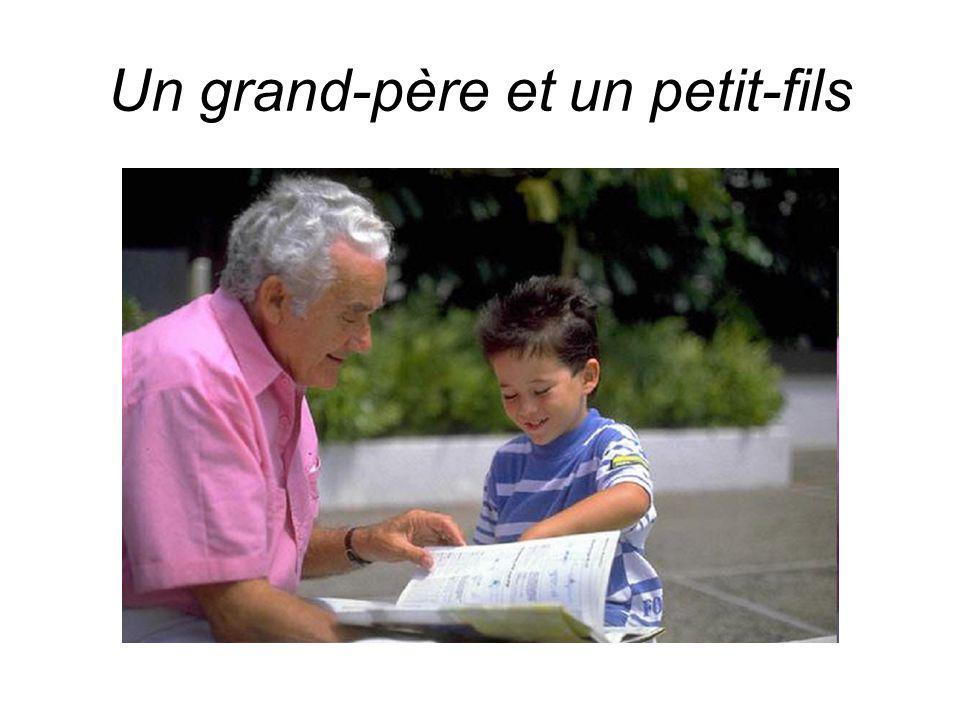 Un grand-père et un petit-fils
