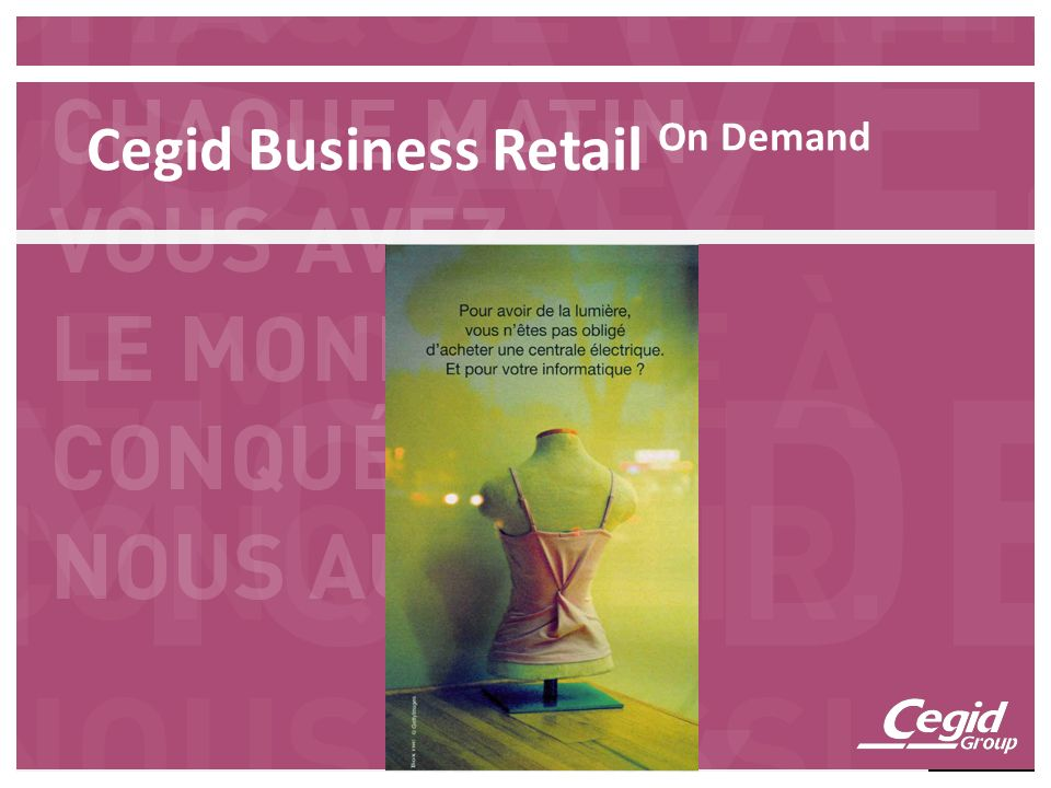 Cegid Business Retail On Demand