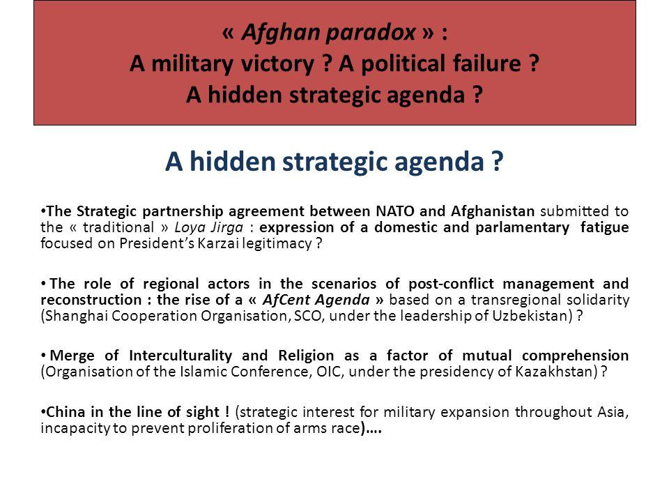 « Afghan paradox » : A military victory . A political failure .