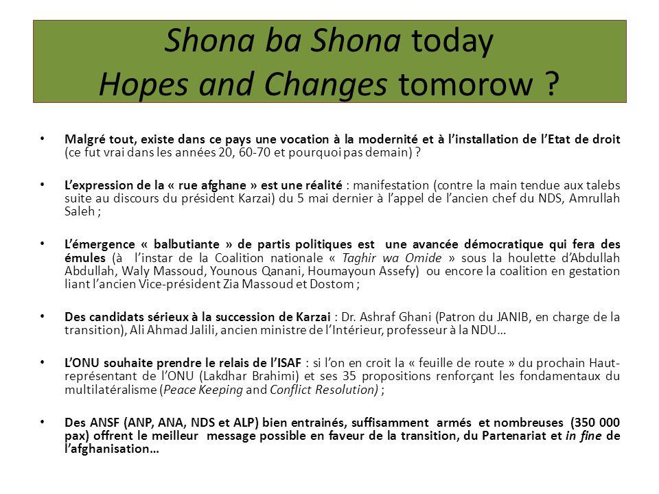 Shona ba Shona today Hopes and Changes tomorow .
