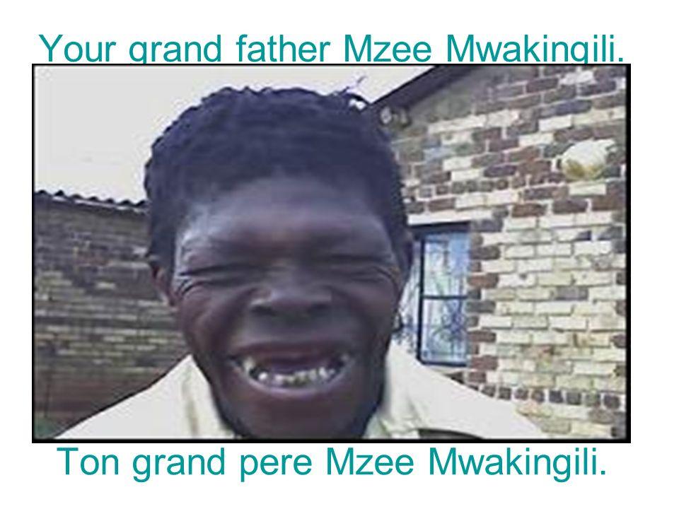 Your grand father Mzee Mwakingili. Ton grand pere Mzee Mwakingili.