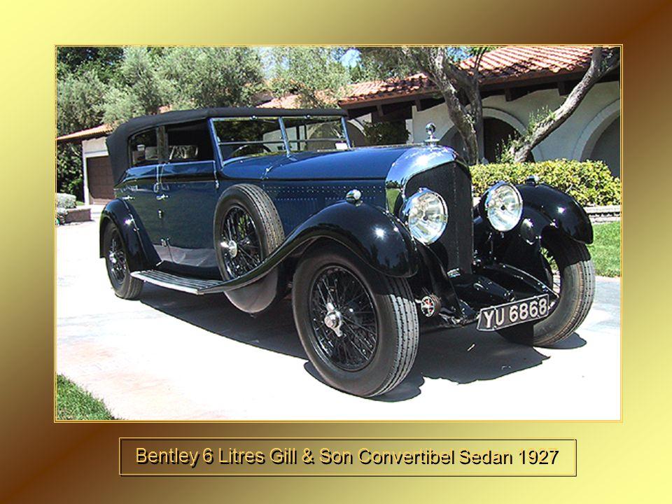 Bentley 6 Litres Gill & Son Convertibel Sedan 1927